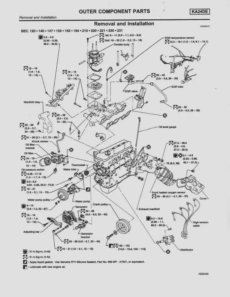 2 5 Nissan Engine Diagram - Wiring Diagram Center