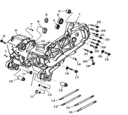 chinese 150cc atv engine diagram