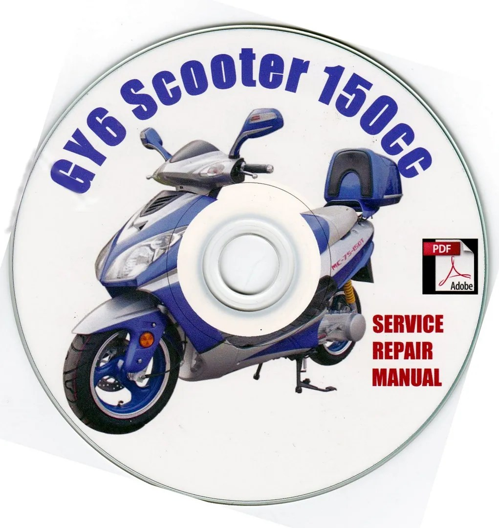 hight resolution of details about chinese scooter 150cc gy6 service repair shop manual on cd jonway branson baccio