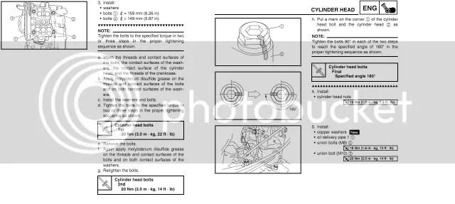 Honda rancher 350 head bolt torque specs