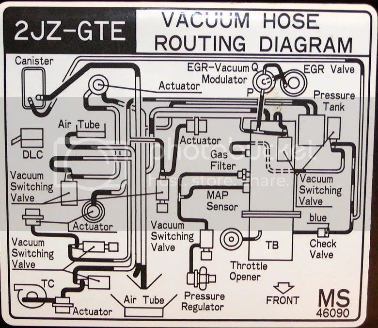 supra 2jz gte wiring diagram ford focus 2005 1jz vacuum line routing