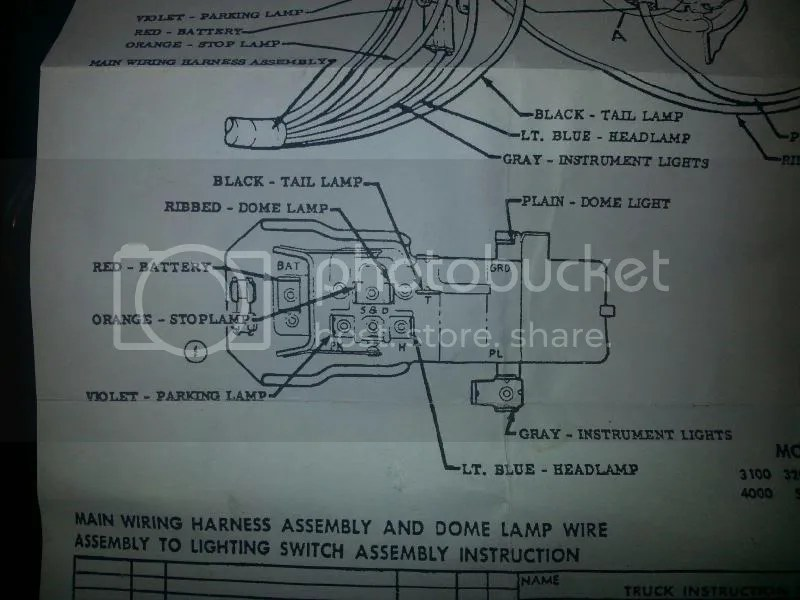 Switch Wiring Diagram On 59 The 1947 Present Chevrolet Gmc