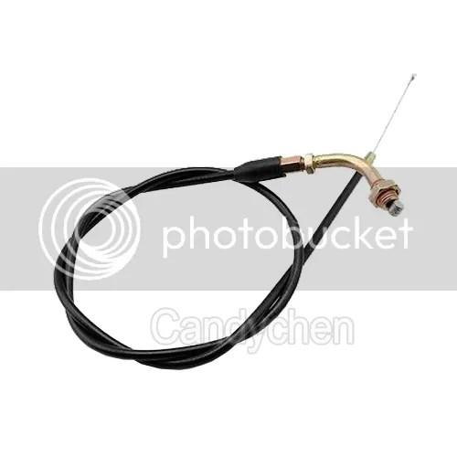 Twist Throttle Handle Grip & Cable For 50cc 125cc 150 250