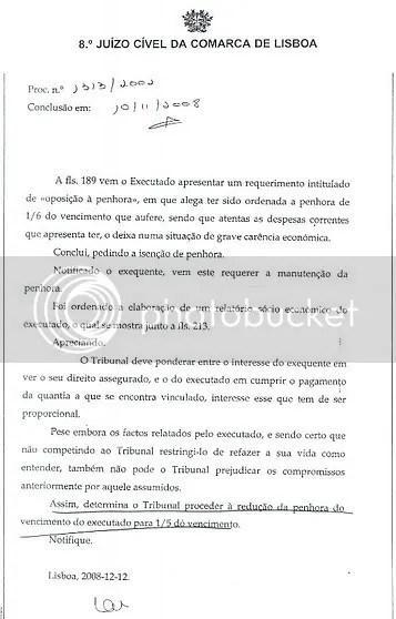 Redução da penhora em Portugal
