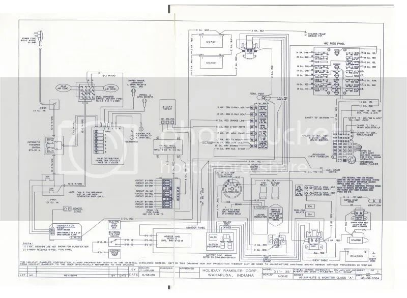 holiday rambler wiring diagram on holiday rambler battery wiring