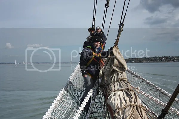 On the bowsprit