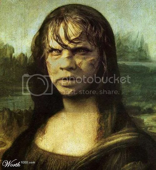 Mona Lisa as the girl from the exorcist