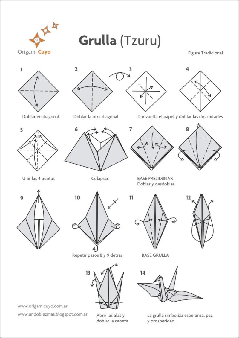 Origami (Papiroflexia): La Grulla