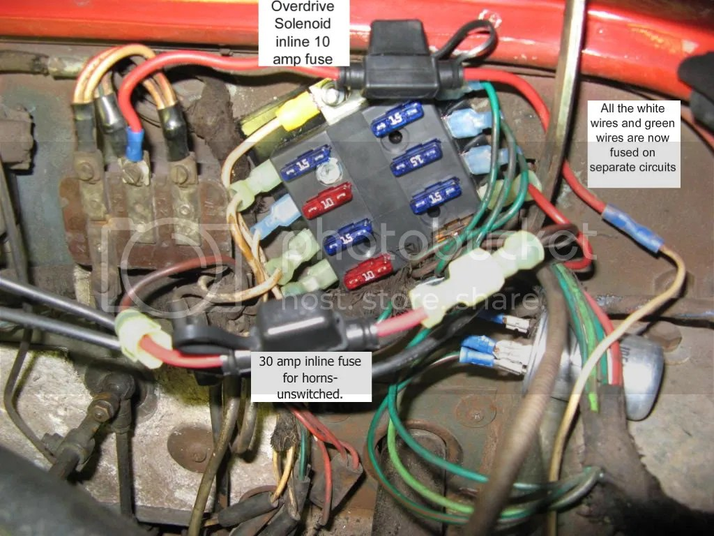hight resolution of i use 5 amp for rear lighting 15 amp for most other circuits with motors and fuel pump 10 amp for od and 30 amp for horns