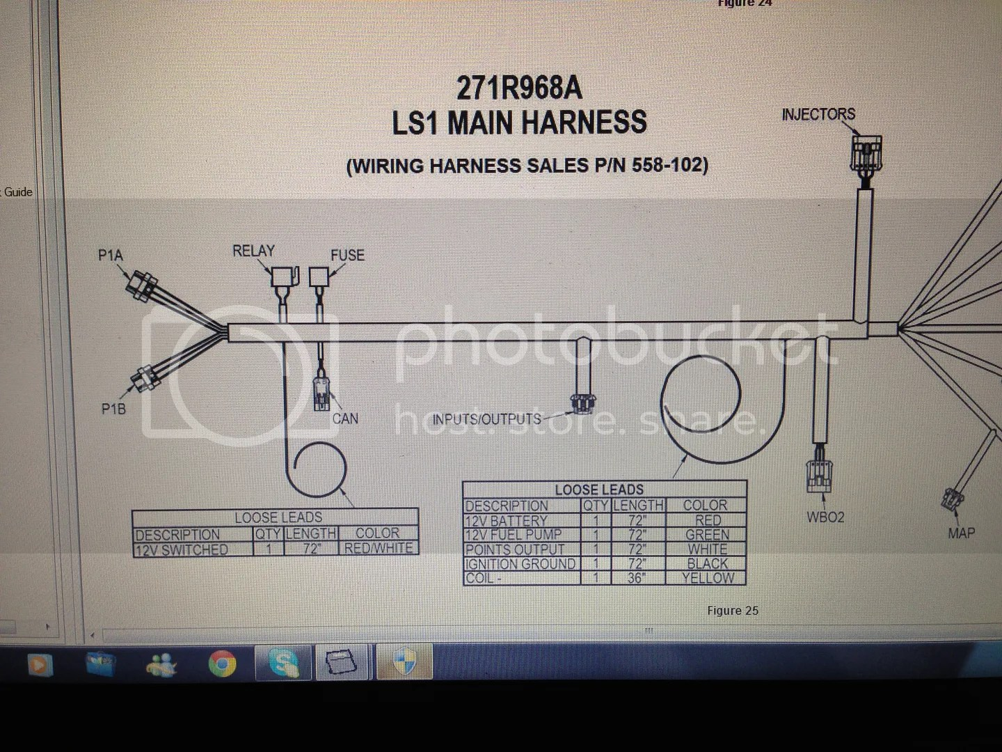 Dominator EFI Ls1 Harness Question About Loose Wires Yellow