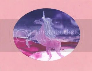 Unicorn painting card