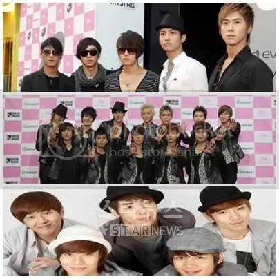 TVXQ, Super Junior, SHINee