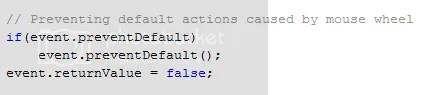 Handling Default Actions