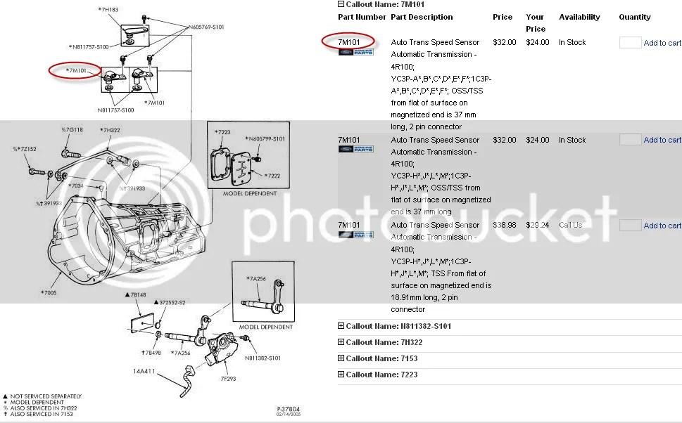 Ford Transmission Parts Diagram