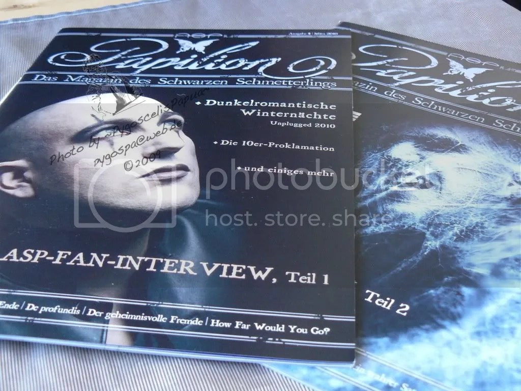 The ASP Fan magazines - for this special occasion there where two issues at the same time!