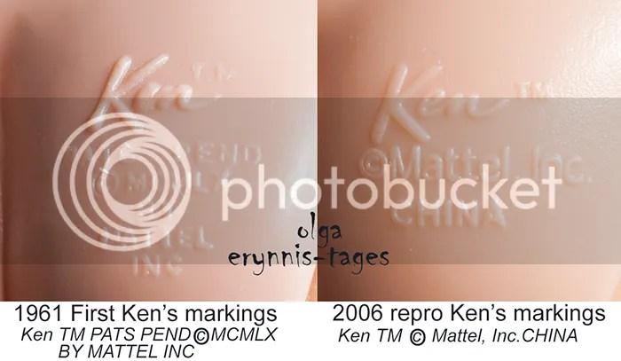 First Ken's body markings and repro Ken's body markings