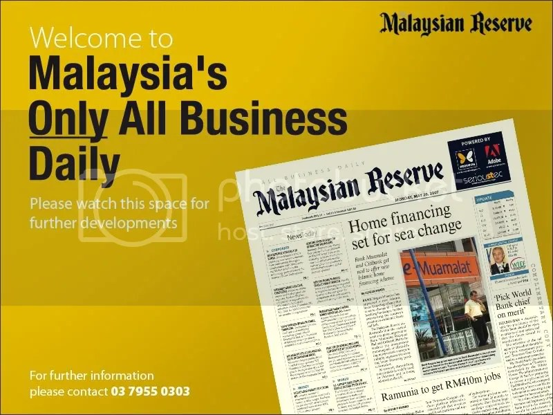 The Malaysian Reserve Homepage