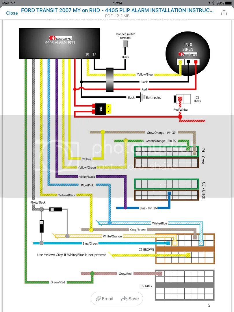 medium resolution of ford transit forum u2022 view topic fitting aftermarket alarm to 2008ford alarm wiring diagram
