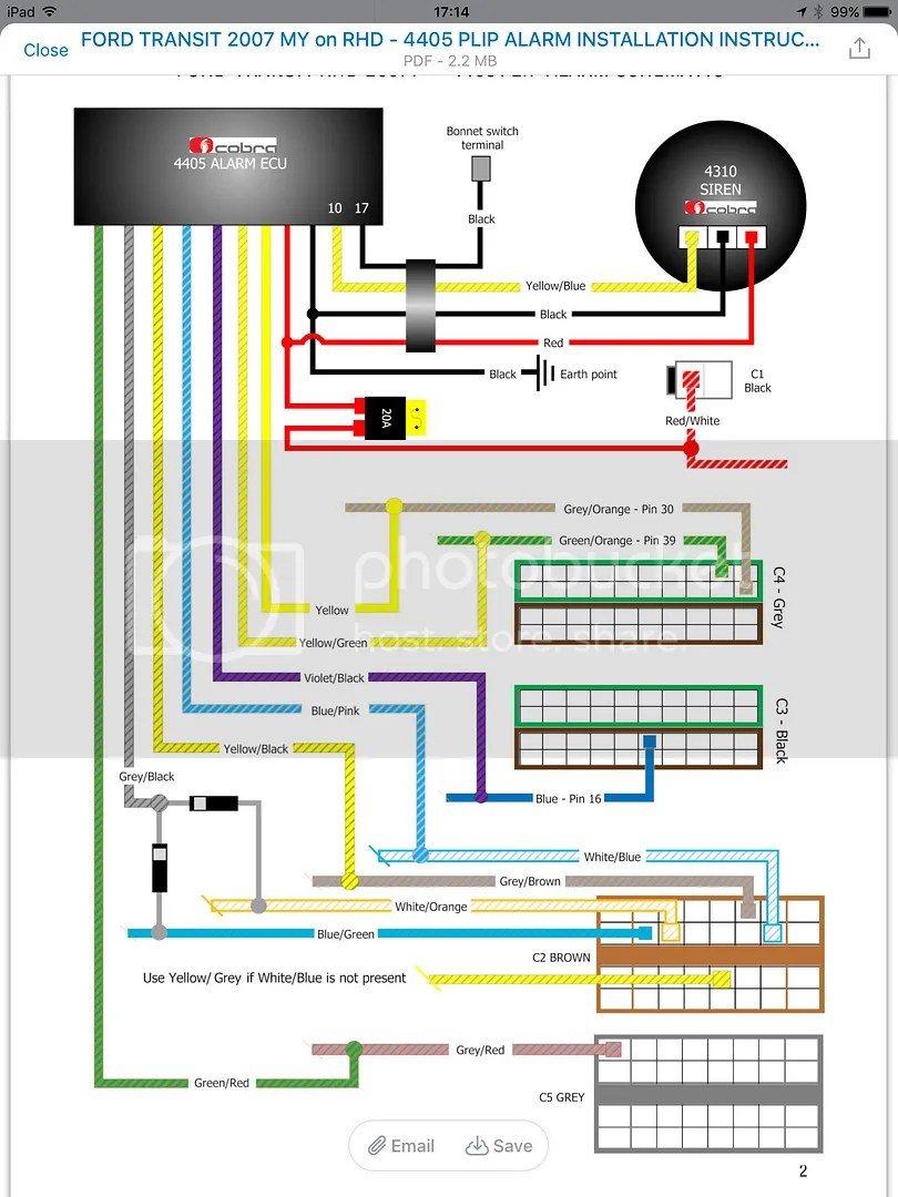 hight resolution of ford transit forum u2022 view topic fitting aftermarket alarm to 2008ford alarm wiring diagram