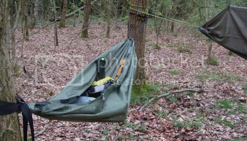 Zipup Enclosable Bivi Camping Hammock Removable BaseEmergency Tarp  eBay