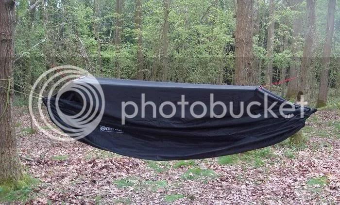 Zipup Enclosable Bivi Camping Hammock Removable BaseEmergency Tarp Black TW  eBay