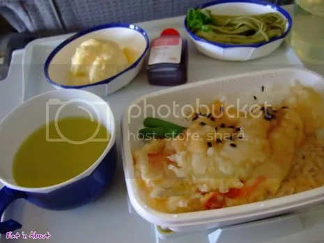 JAL: Sand-borer tempura with rice