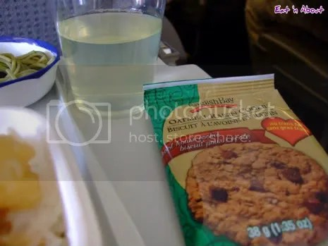 JAL: Yuzu drink and English Bay Oatmeal Raisin Cookie