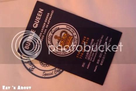 Bubble Queen business card