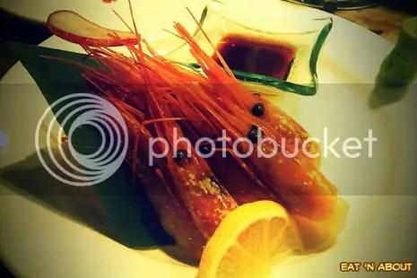 Guu with Garlic: Amaebi sashimi