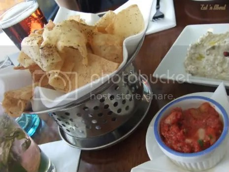 Laziza Modern Mediterranean: Crispy pita chips with salsa