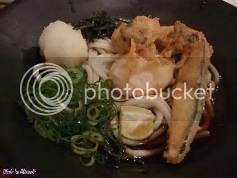 Genzou: Oyster and Egg Tempura Bukake udon