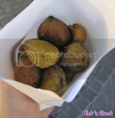 Myeongdong, Seoul Street Food: Roasted chestnuts