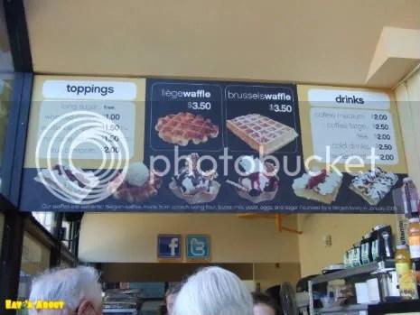 Wannawafel menu