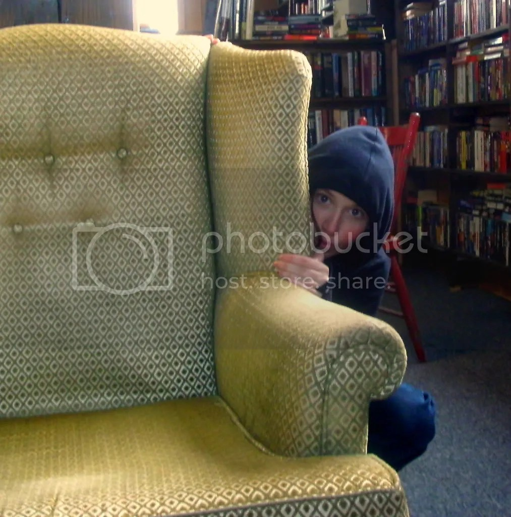 Ashley Hides Behind The Chair Photo by memorylessphotos