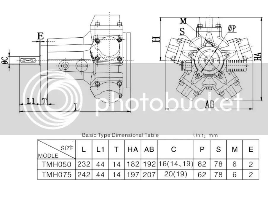 Air Drive Pneumatic Radial Piston Motor Mixer 0.5HP 720RPM