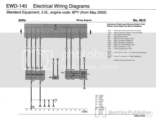 small resolution of  for the rabbit gti and the jetta gli is identical at the front of the car same wiring colors same everything here s the diagram showing the lamps