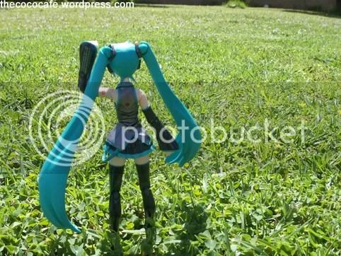Miku in the grass