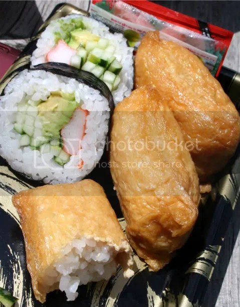 California roll and inari.