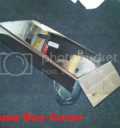 corvette c5 polished stainless fuse box cover 1997 2004 chrome engine ls1 ls6 [ 1024 x 768 Pixel ]