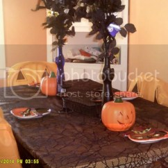 Dollar Tree Pumpkin Chair Covers Revolving Barber Our Dining Room Halloween Discussion Forums Costumes Horror