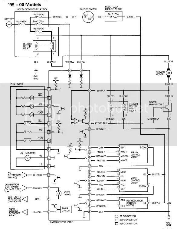looking for a 2000 civic heater and fan wiring schematic