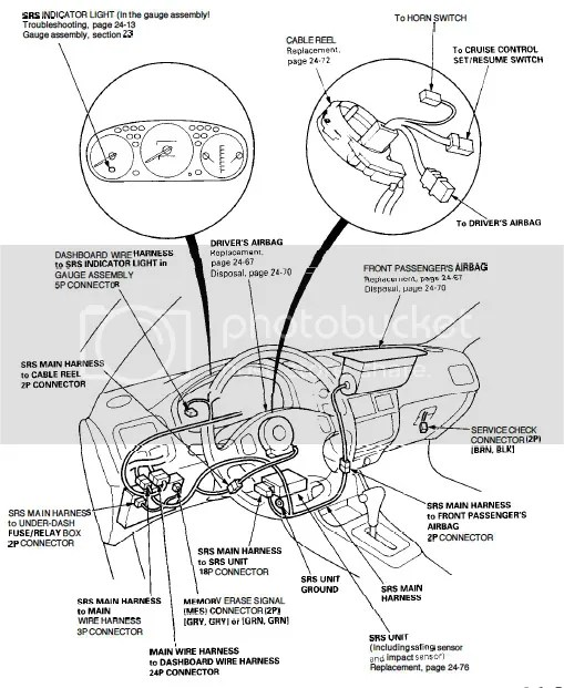 2002 Honda Civic Srs Wire Diagram