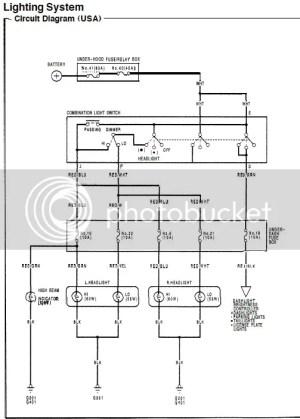 9295 DX Civic Headlight Wiring  HondaTech