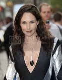Thierry Henry's former WAG Claire Merry at the Star Trek London Premiere in a catsuit