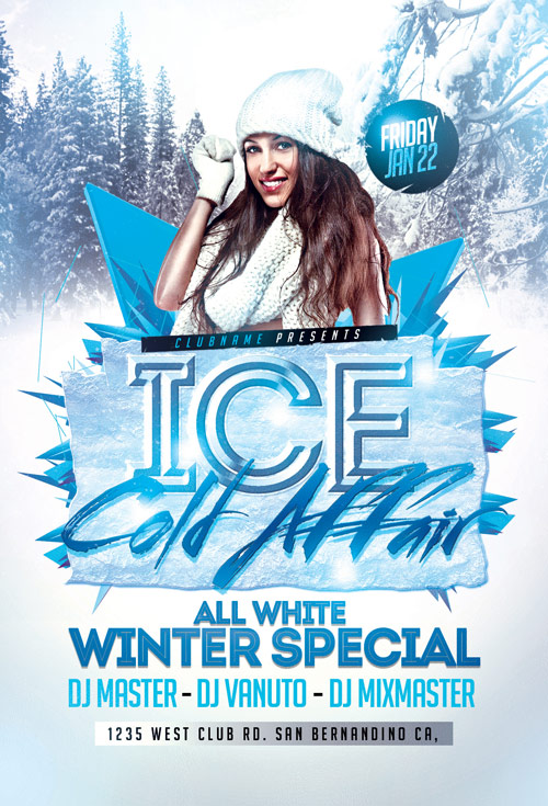 Winter Party - Flyer PSD - All Design Template - Photoshop Vector
