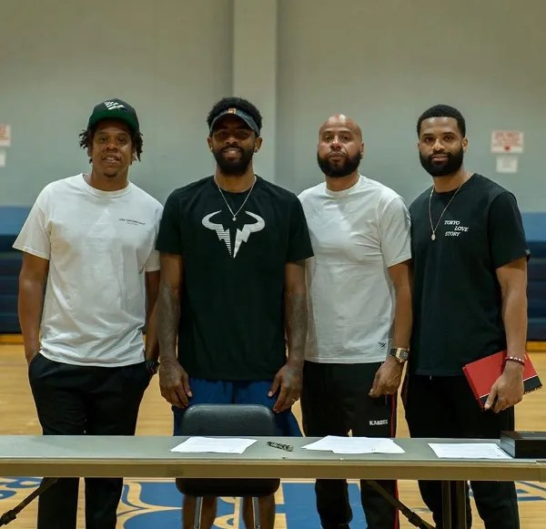 Image result for kyrie irving nets signing jay z