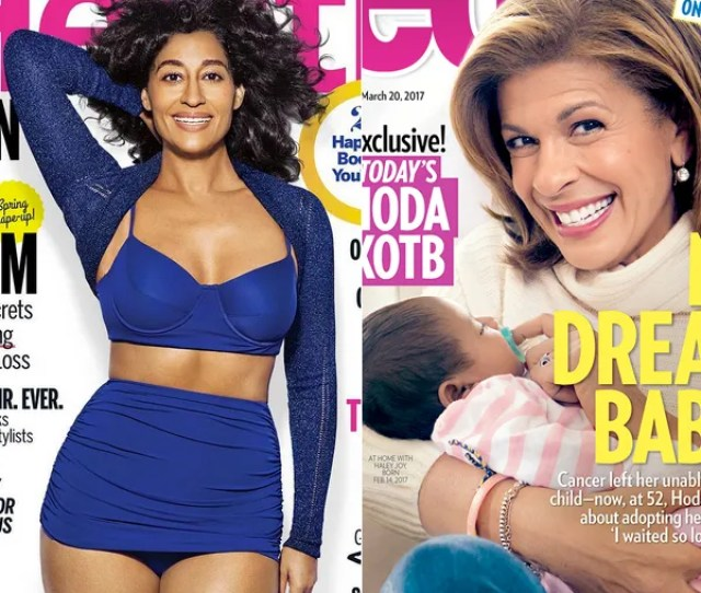 Tracee Ellis Ross Hated Her Booty Growing Up Talks Body Acceptance In Health Magazine Hoda Kotb Opens Up About Adopting Baby Girl In People Magazine