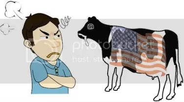 The U.S. beef import issue neatly summarized in cartoon form.