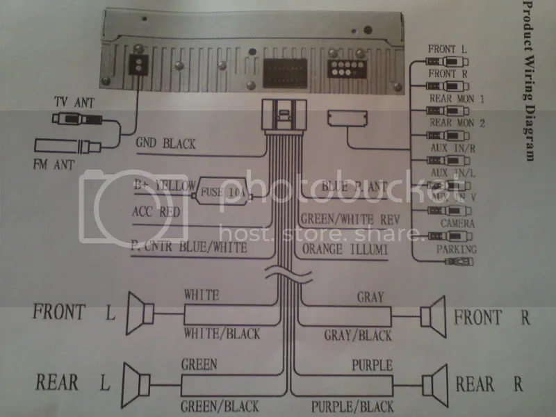 Kenwood Wiring Harness Diagram Colors