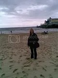 Anji at Bournemouth - cloudy/wet day